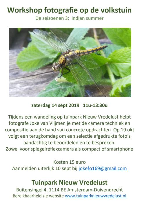 workshop fotografie duivendrecht amsterdam natuur